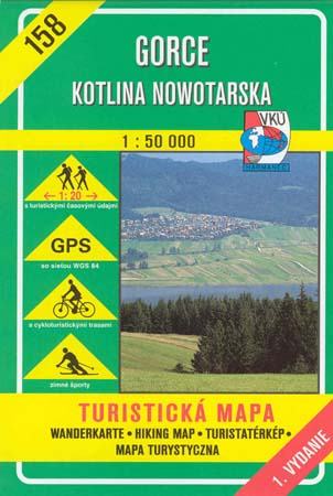 158 GORCE - KOTLINA NOWOTARSKA 1:50 000 (TM)